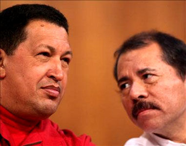 Hugo Chávez Frías and Daniel Ortega